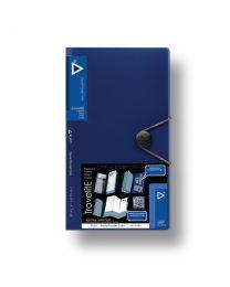 """3749-NV: KCK Play """"TravelitE"""" Travel Pocket Folio - Navy"""