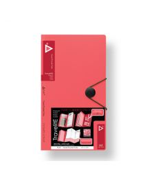 "3749-RD: KCK Play ""TravelitE"" Travel Pocket Folio - Red"