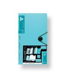"3749-TQ: KCK Play ""TravelitE"" Travel Pocket Folio - Turquoise"