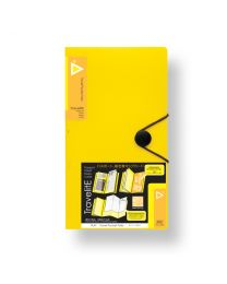 "3749-YL: KCK Play ""TravelitE"" Travel Pocket Folio - Yellow"