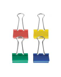 BC 25C: KCK Coloured Binder Clips - 25mm