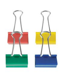 BC 32C: KCK Coloured Binder Clips - 32mm