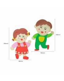 C3012: Eva Classroom Deco - Boy & Girl