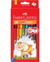 FC111610: Faber-Castell Jumbo Colour Pencil 10's