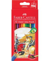 "FC115852: Faber-Castell Classic Knight Colour Pencil ""L"" 12's"
