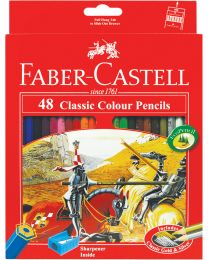 FC115854: Faber-Castell Classic Knight Colour Pencil 24's