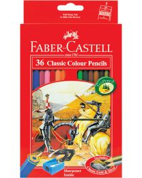 FC115856: Faber Castell Classic Knight Colour Pencil 36's