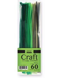 HC 6030-2: KCK Craft Pipe Cleaners Green Hue 60's