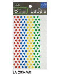 LA 205-MX: KCK Round Labels - 5mm Mix