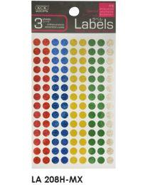 LA 208H-MX: KCK Round Labels - 8mm Hologram Mix