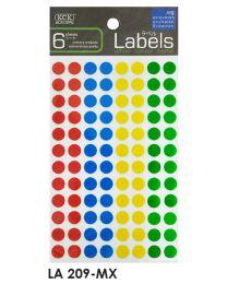 LA 209-MX: KCK Round Labels - 9mm Mix