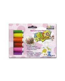 MA 560-6B: Marvy Fabric Marker (Flourescent) 6's