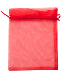 OG1316RD: Organza Draw String Bag
