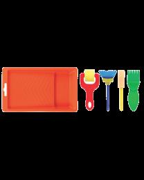 HC TL738: Hobby Craft Paint Tray + Tools 5's