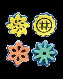HC TL740: Hobby Craft Foam Stamp Flowers 4's