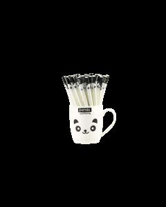 BP93PANDA: Gel Pens in Mug - Panda