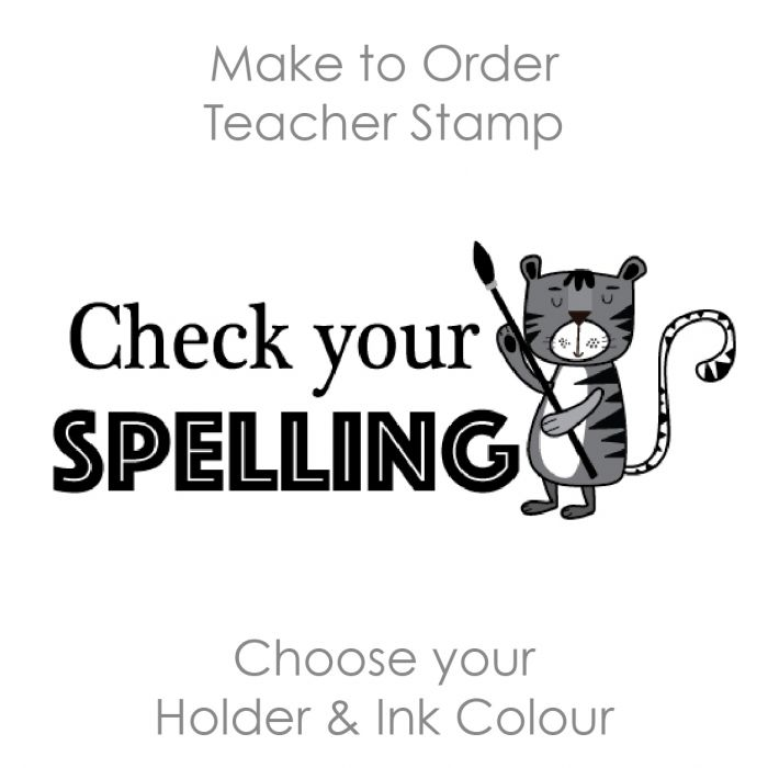 SPE001 Teacher Stamp English